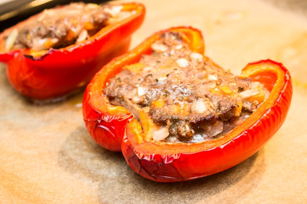 Filled bell peppers